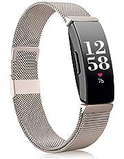 Funbiz Compatibel met Fitbit Inspire Bandje/Inspire HR Bandje, Roestvrij Staal Metalen Gaas met Uniek Slot Compatibel met Fitbit Inspire/Inspire HR/Inspire 2/Ace 2 - Klein Groot