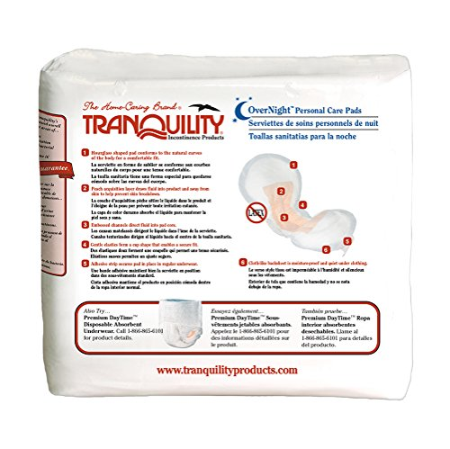 Tranquility Incontinence Personal Care Pads for Men or Women - OverNight - 96 ct by Tranquility (Image #2)
