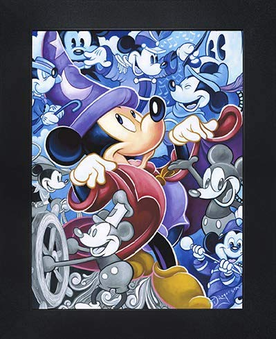"Disney Licensed Framed 3D Lenticular Poster | Ready to Hang - 14.5"" x 18.5"" (600003 - Mickey Mouse - Celebrate The Mouse)"