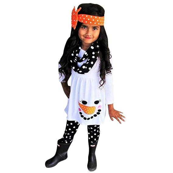 ASHOP Vestidos niña/ Snowman Tops Vestido + Pantalones de Punto/Tutu Falda/ Princesa/ en Oferta/ 0-5 Años: Amazon.es: Ropa y accesorios