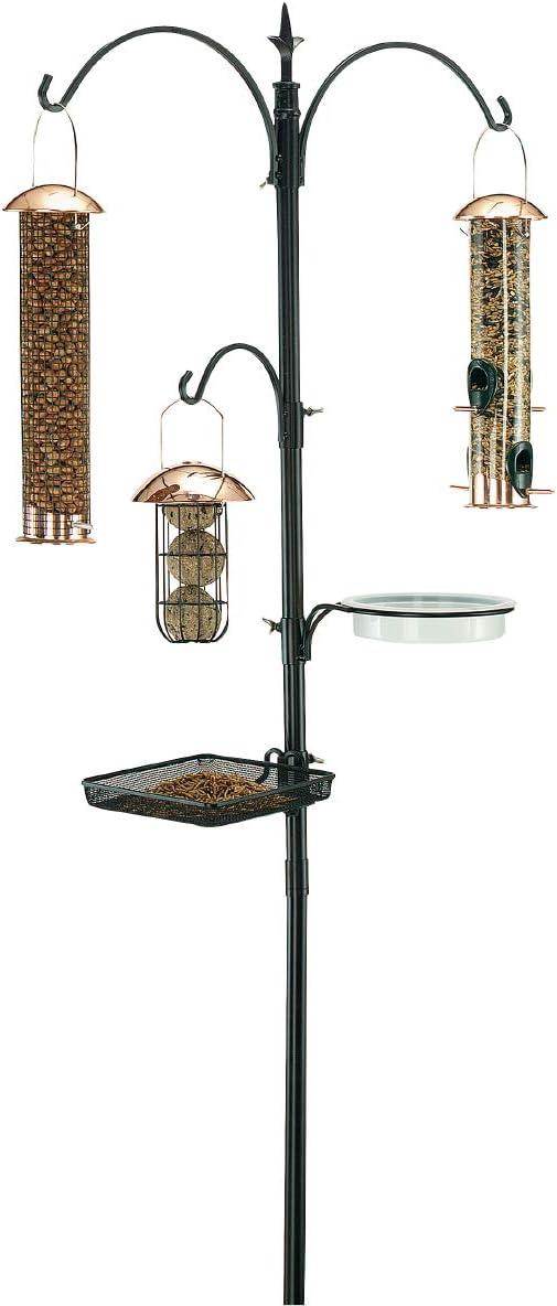 """Gardman BA01131 Premium Bird Feeding Station Kit, 21"""" Wide x 90"""" High (73"""" above ground height)"""