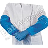 Delta Plus Venitex MANCHBE Blue Polythene Disposable Oversleeves - 50 Pairs by Deltaplus