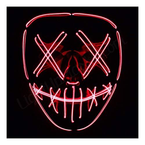LightUpMasks Stitches LED Costume Mask (Halloween Rave Cosplay EDM Purge) ()