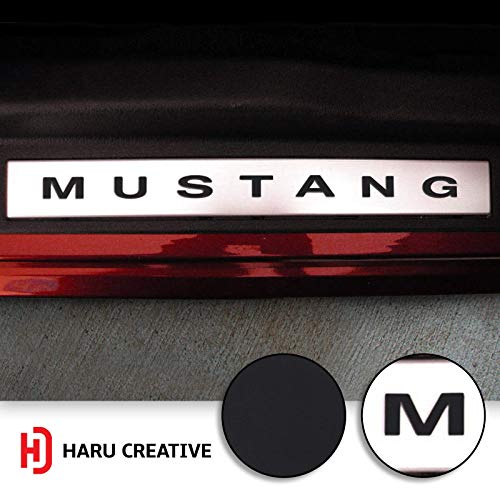 (Haru Creative - Door Sill Step Panel Letter Overlay Insert Vinyl Decal Sticker Compatible with and Fits Ford Mustang 2005-2014 - Matte Black)
