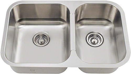 27.5 x 18 Offset Stainless Steel Kitchen Sink