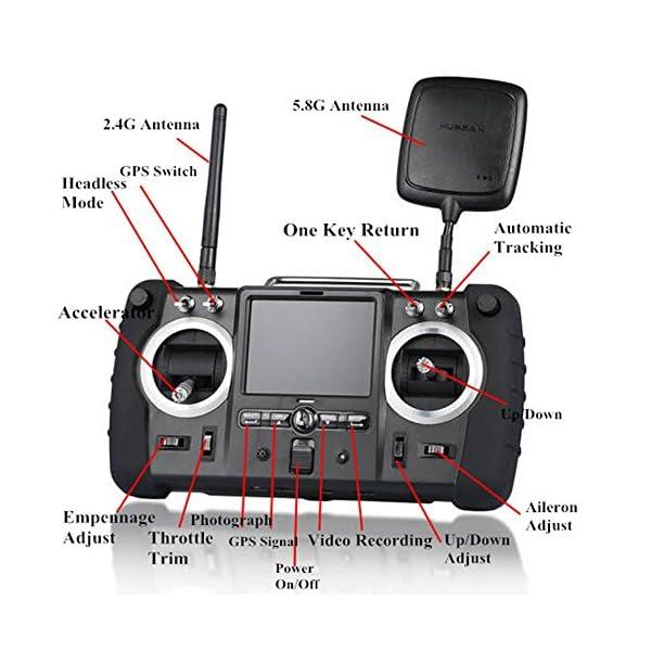Hubsan H501S X4 PRO Brushless FPV Droni Quadricotteri GPS Fotocamera 1080P HD 5.8Ghz con Telecomando High Edition (H501S Nero) 4 spesavip