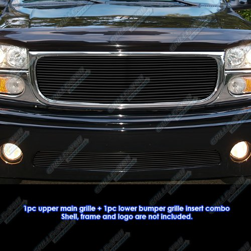 APS Compatible with 2001-2006 GMC Yukon Denali Black Billet Grille Combo Insert G61074H