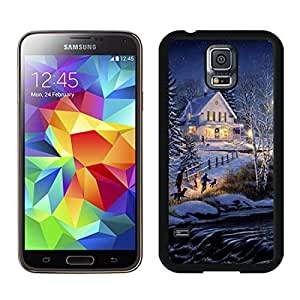 Individualization Holiday Home christmas Black Samsung Galaxy S5 Case 1