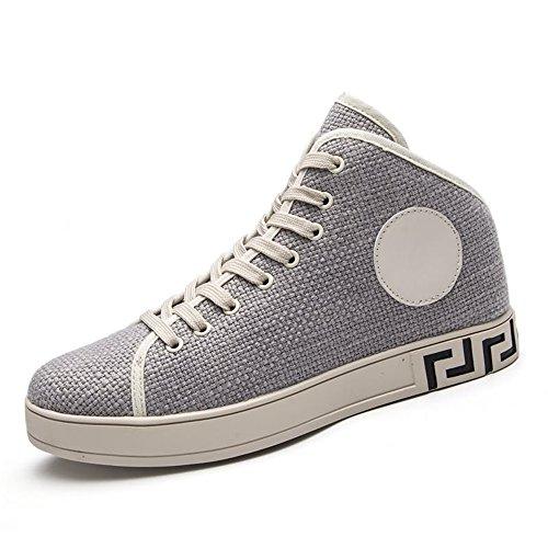 Grigio Moda Cricket da Piatto da Ginnastica Scarpe con Sneaker Uomo Scarpe per Tacco g7SPH88cZ