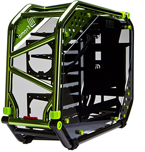 InWin D-Frame 2.0 BK/GR  Green/Black Motorcycle Steel Tube ATX Full Tower Case includes SII-1065W Power supply Cases D-Frame 2.0 by InWin (Image #1)