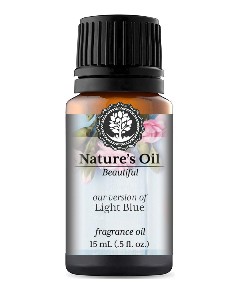 Light Blue Fragrance Oil (15ml) For Perfume, Diffusers, Soap Making, Candles, Lotion, Home Scents, Linen Spray, Bath Bombs, Slime