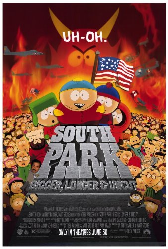 South Park: Bigger, Longer and Uncut Movie Poster (27 x 40 Inches - 69cm x 102cm) (1999) -(Trey Parker)(Matt Stone)(Isaac Hayes)(George Clooney)(Minnie Driver)(Mike Judge) (South Park Bigger Longer And Uncut Cast)