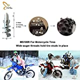 Marrkey 100PCS 24.5mm Anti-Skid Spikes Carbide Big Screw Tire Studs for Off Road Car SUV Snow Mobile Trucks Pikcups Motorcycles Rear Tire Wheel on Winter