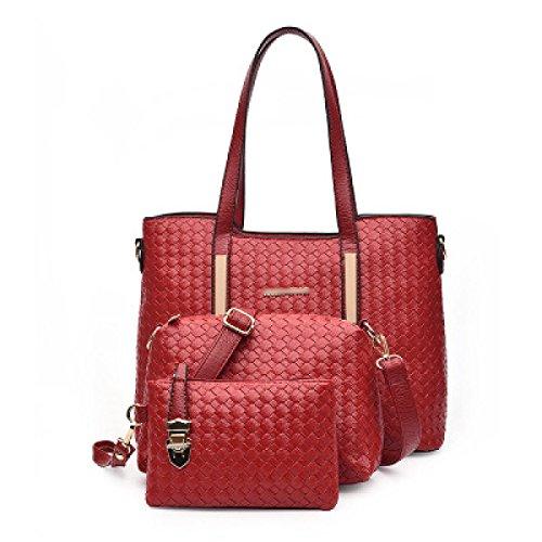 Mujer El Nuevo Tres Piezas Bolsas De Hombro Moda Bolso De Gran Capacidad Práctico Temperamento Bolsa Red
