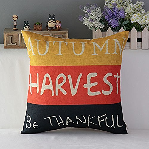 Warm-life Decorative Linen Cloth Halloween Pumpkin Pillow Case