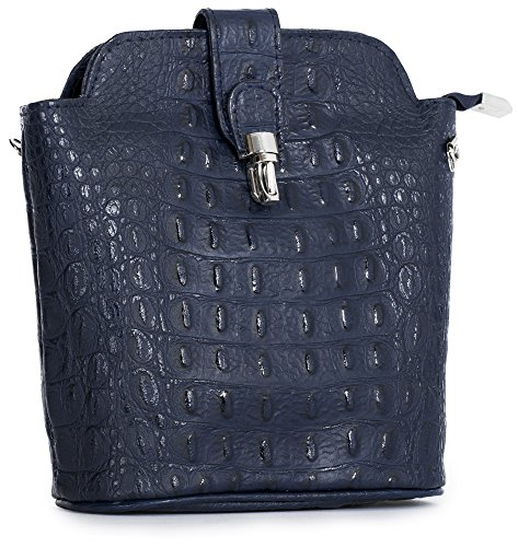 Leather in Croc Shop Bag Cross Ostrich Plain Real Design or Big Mini Handbag Crocodile Navy Small Body TZx8qXz