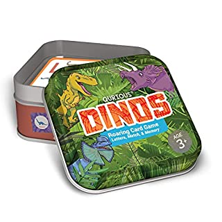 Qurious Dinos   STEM Flash Card Game   Build, Find, Match & Roar Through Millions of Years of History. Perfect for Jurassic, Dinosaur and T-Rex Enthusiasts