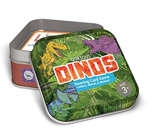 Qurious Dinos | STEM Flash Card Game | Build, Find, Match & Roar Through Millions of Years of History. Perfect for Jurassic, Dinosaur and T-Rex Enthusiasts ()