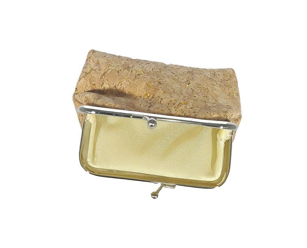 Amazon.com: Monedero de oro plateado, y corcho con cierre de ...
