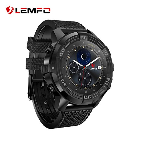LEMFO LEM6 Android 5.1 Smart Watch Phone 3G WIFI GPS Tracker Waterproof Smartwatch 550mAh Battery Compass Travel Men Wristwatch by LEMFO