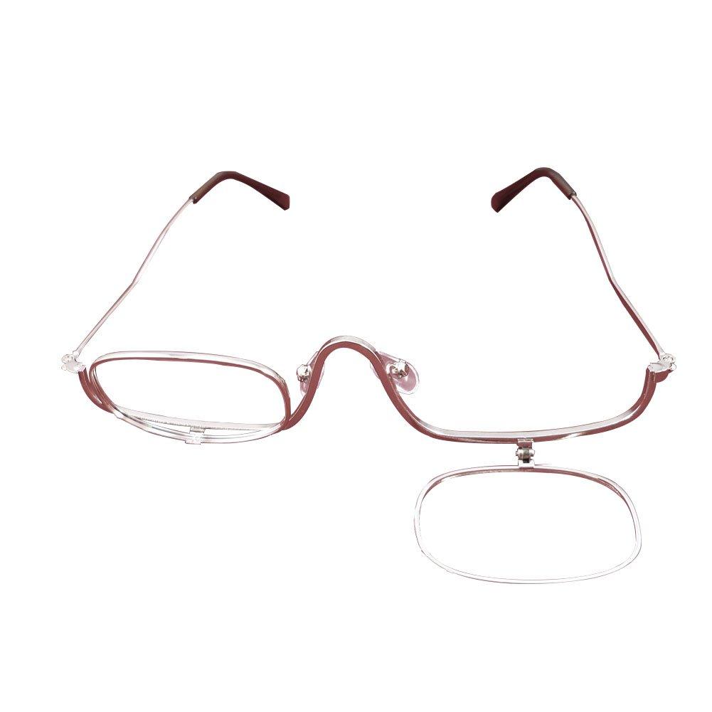 Yefree Occhiali da lettura per donna Lenti per occhiali da vista, Lenti singole, Flip-able per applicazione cosmetica su ogni lato