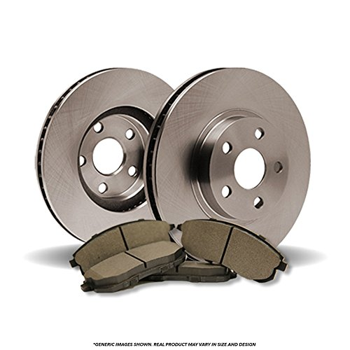 (Front Kit)(OE SPEC)(Perfect-Series) 2 Disc Brake Rotors & 4 SemiMet Pads(5lug)
