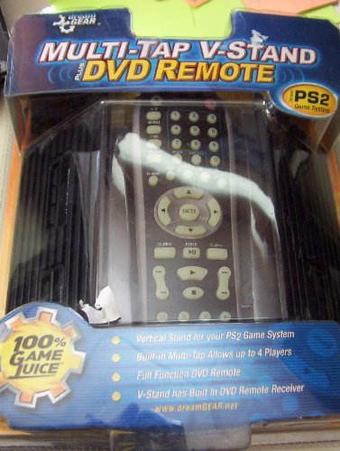- Multi-tap V-Stand DVD Remote for Playstation 2 large systems