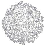 prettDliJUN 50g/Bag Clear Scattered Faux White Fluorite Quartz DIY Stone for Jewelry Making Decor 1#