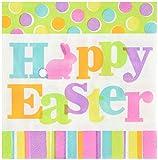 Amscam Happy Easter Beverage Napkins (36 Per Pack), Multicolor