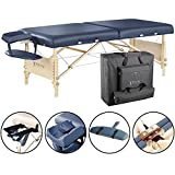 Master Massage Coronado Portable Massage Table Package, Royal Blue, 30 Inches