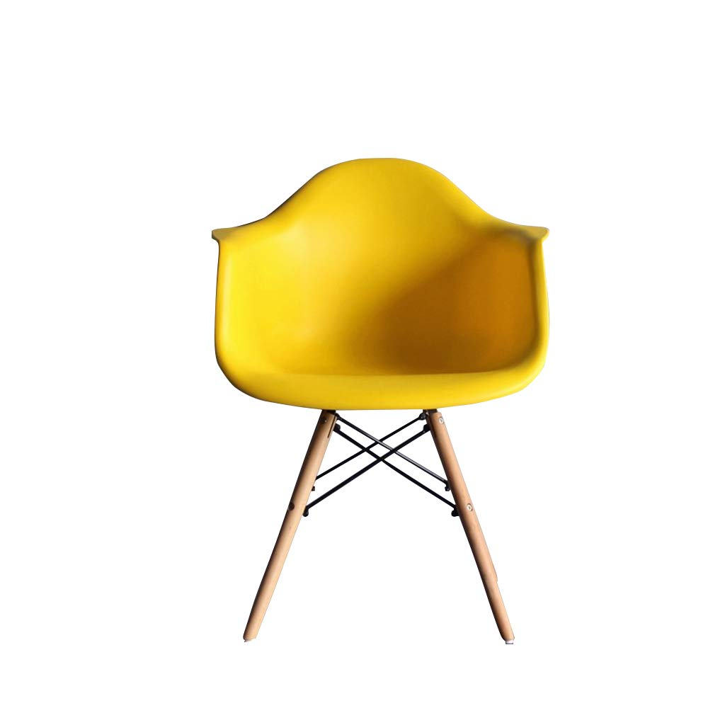 Yellow 383885cm YE ZI Chair - Chair - Sleek Minimalist Dining Chair Easy to Install Office Chair Lounge Chair Comfortable and Durable (color   Black, Size   38  38  85cm)