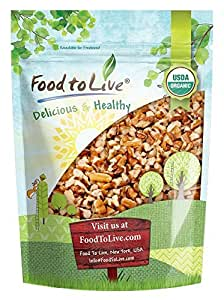 Organic Raw Pecan Pieces by Food to Live (Fresh Nuts, Bulk, Non-GMO, Kosher, Unsalted, Product of the USA, Best for Baking) — 12 Ounces