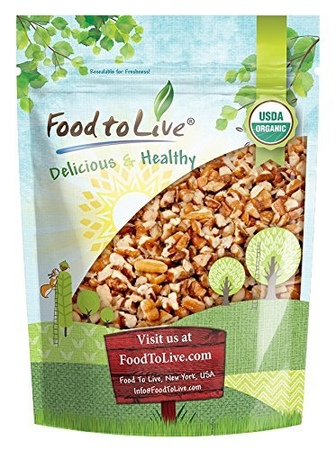 Organic Raw Pecan Pieces by Food to Live (Fresh Nuts, Bulk, Non-GMO, Kosher, Unsalted, Product of the USA, Best for Baking) - 12 ()
