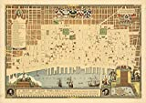 A Map of Old Philadelphia, 1934 | Historic Antique Vintage Map Reprint