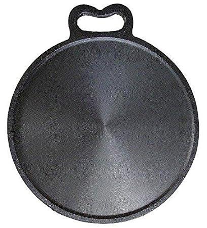 NatureLoc Iron Tawa (Black, 10-inch)