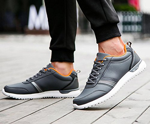 Sport Souliers de Hommes de Coréenne Chaussures Sport GRRONG Chaussures Darkgray Automne xOXnw5q