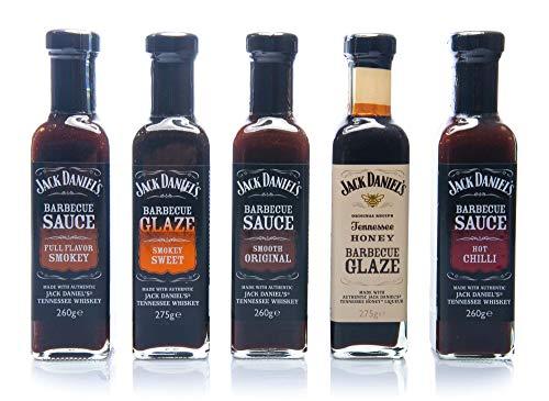 Jack Daniel's – Grillsauces & BBQ Glaze Tasting Package – 5 flessen in een set (1330g) – Smooth Original, Full Flavor…