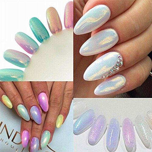 Aranher(TM)) Mermaid Effect Glitter Nail Art Powder Dust Magic Glimmer 2016 Trend Irridescent