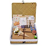 Innocheer Scrapbook with Photo Album Storage Box, 80 Pages Craft Paper DIY Anniversary, Wedding Photo Album, with DIY Accessories Kit (Scrapbook)