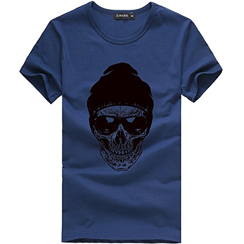Casual Chemisier Marine Blouse Shirt Impression Courtes Nouveau Tops Hauts Hommes Mode Printemps Npradla Cotton Manches Été T fRUUxO