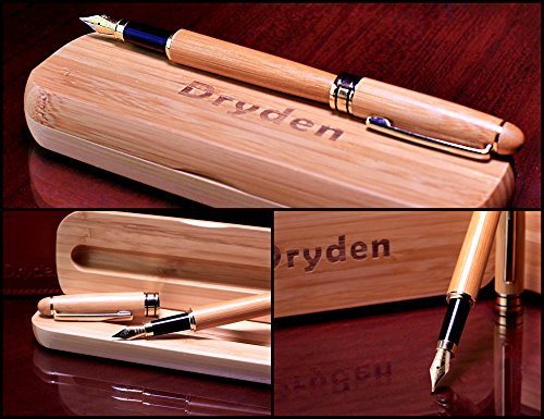 Dryden-Luxury-Bamboo-Fountain-Pen-with-Gift-Case-100-Handcrafted-Executive-Fountain-Pens-Set-Vintage-Pens-Collection-Business-Antique-Gift-Pen-Calligraphy-Ink-Refill-Converter