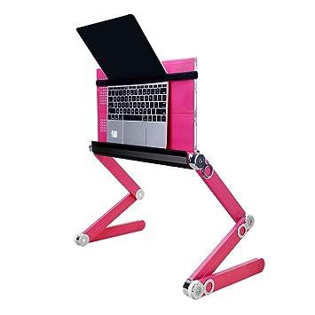 Aluminio plegable Soporte para portátil,Altura y ángulo ajustado libremente, Portátil ergonómico cojín de enfriamiento para el ordenador portátil(11~17 ...