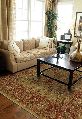 (Nourison Jaipur (JA50) Olive Rectangle Area Rug, 3-Feet 9-Inches by 5-Feet 9-Inches (3'9