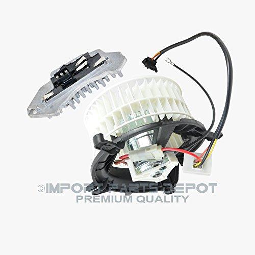 (AC Heater Blower Motor + Regulator Resistor for Mercedes-Benz E300 E320 E420 E430 E55 AMG Premium Quality 2108206842 / 2108214651)