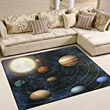 ALAZA Space Solar System Universe Galaxy Nebula Area Rug Rugs for Living Room Bedroom 7' x 5'