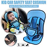 JAPP Car Cushion Seat with Safety Belt for Small Kids & Babies (Multi Color, 1 Pack)