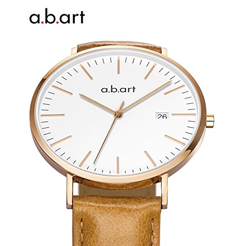a.b.art FB36-000-3L Analog Leather Strap Rose Gold Case LadyWatch (watches Brown) by a.b.art (Image #3)