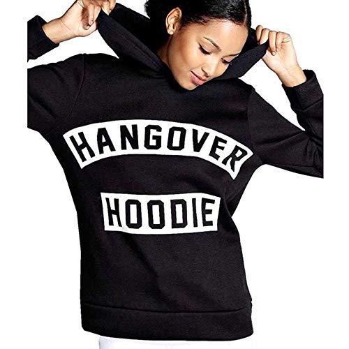 sholdnut Women Long Sleeve Fleece Sweatshirt Letters Printed Hoodie Casual Pullover Tops