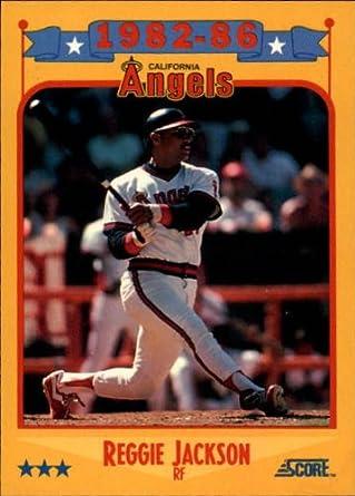 Amazoncom 1988 Score Baseball Card 503 Reggie Jackson Angels Near