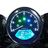 digital motorcycle tachometer - Samdo Universal DIY 12000 rpm LCD Digital Speedometer Odometer Tachometer 199 kmh for Honda Motorcycle MotorBike 1,2,4 Cylinders